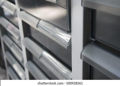 close up of document box.