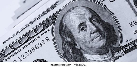 close up of dollar bill (details)