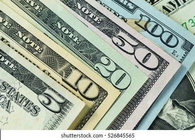 Close up of  dollars