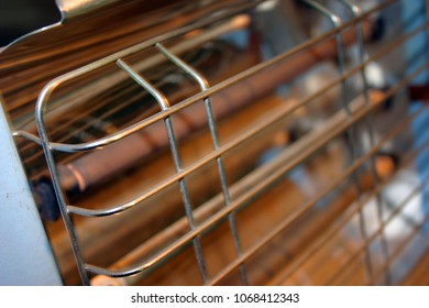 Close up of a domestic electric bar heater