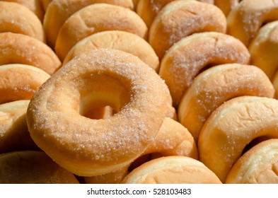 Close up donuts
