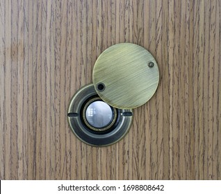 Close up Door peephole, Door eye