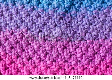 Close Double Moss Stitch Knitting Pattern Stock Photo Edit Now
