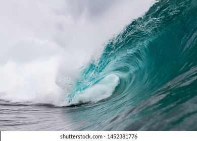 close up dramatic action of a crashing wave
