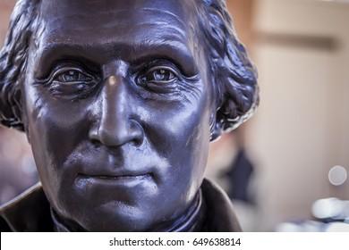 Close up dramatic portrait of George Washington 2
