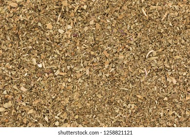 Close up of dried basil herb texture