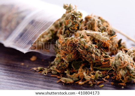 Close Dried Cannabis Marijuana Leaves Used Stock Photo (Edit Now