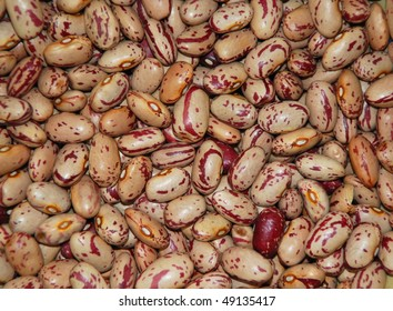 close up of dried pinto beans