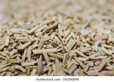 close up of dried rosemary