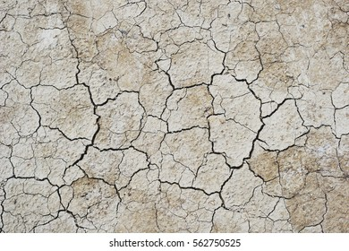 Close up of dry cracked ground for background.