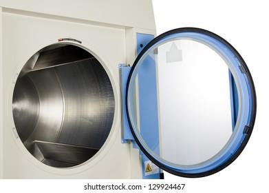 Close up of dryer machine