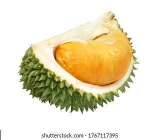 Close up of durian isolated on white background