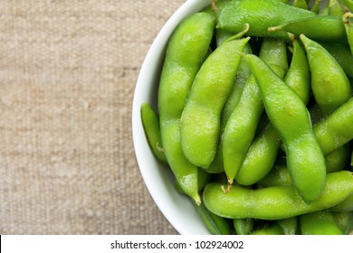 close up of Edamame soy beans