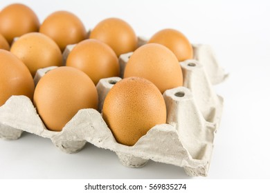 close up eggs from chicken in the package