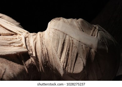 close up of an egyptian mummy