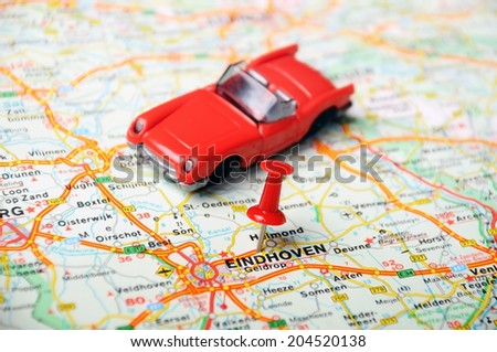 Close Eindhoven Netherlands Map Red Pin Stock Photo (Edit Now ...