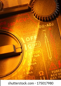 Close up of an Electric multi meter