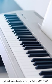Close up of electric piano.