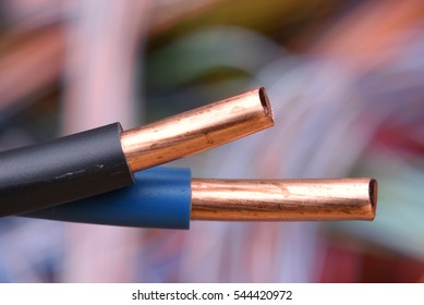 Close Up of Electrical Wire with Blurred Background