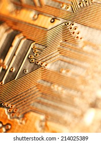 Close up of an electronic circuit board