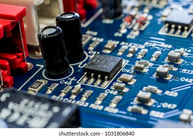 Close up of a electronic cirtcuit board