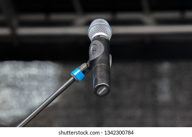 Close Up Of A Empty Microphone On A Stage At Amsterdam The Netherlands 2019