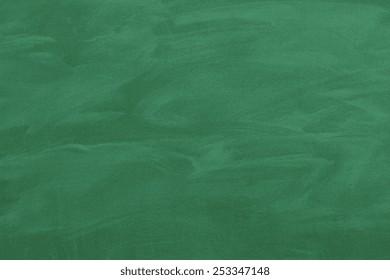 close up of an empty school green blackboard