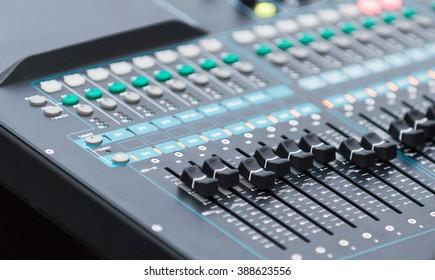 close up equalizer sound controller, selective focus