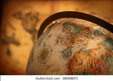 Nahaufnahme von Europa auf dem Globus