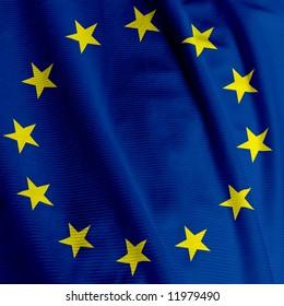 Close up of the European Union flag, square image
