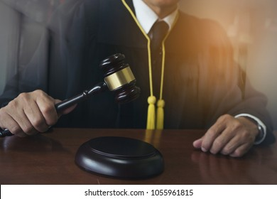 close up executive businessman or lawyer standing in the office,justice and law concept,