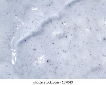 Close up of exfoliating cream.
