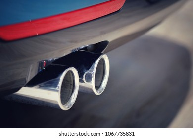 Close up Exhaust car, intake.