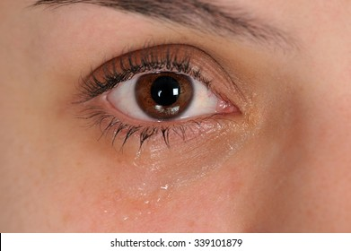 Close up of eye with tears
