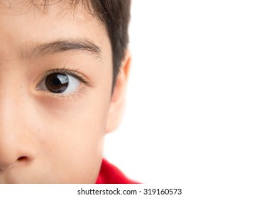 Close up eyes of boy