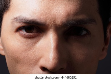Close up of eyes from a young man