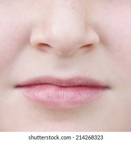 close up of face