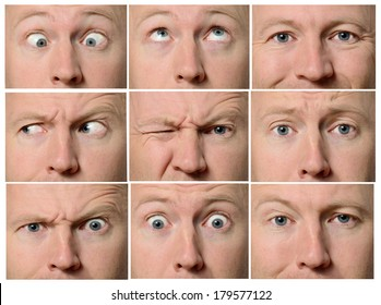 Close up of facial expressions focused on eyes