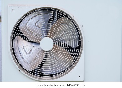 Close up the fan of air conditioner.