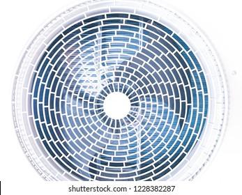 Close up fan in compressor air conditioner