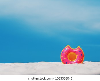 Close up fancy floating on the beach,summer time concept.