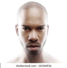 Close up fashion portrait of a male model
