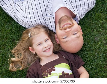 Close Up of Father and Daughter