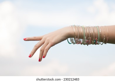 Close up of female hands