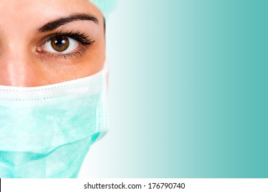 Close up of a female surgeon.