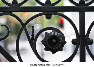 Close Up Fence Decoration