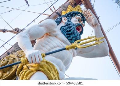 Close up of figurehead on Pirate Ship