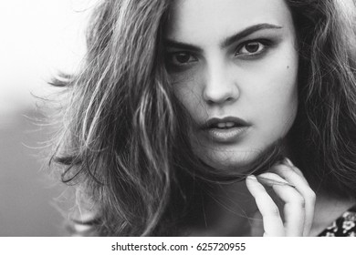 Close up fine art portrait of a Beautiful girl