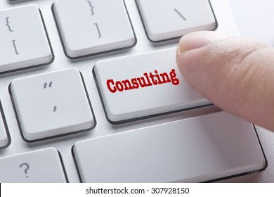 Close up Finger on keyboard-Online Conceptual Consulting