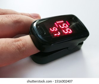 Close up of Finger in an Oximeter Device